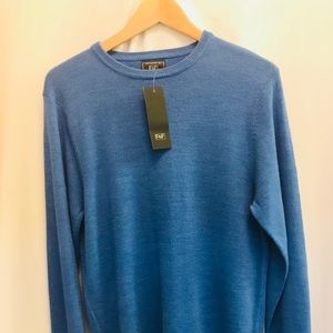 F&F Men's Small Ultra Soft Blue Crew-Neck Sweater